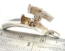 Sterling 925 Silver Banana Opening Charm Showing a Monkey Inside - Welded Bliss