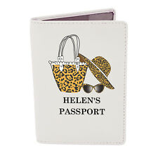 Personalised PASSPORT COVER - Holiday Gift - Passport Holder - Genuine Leather