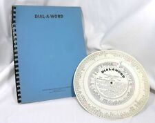 Vintage Dial-A-Word Educational Tool