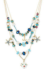 BETSEY JOHNSON 'Shell Shocked' Blow Fish Starfish Nautical Illusion Necklace