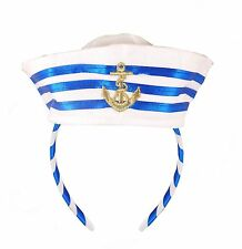Fancy Dress Sailor Hat Headband w/ Stripes (H20471)