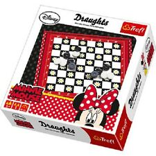 Disney Minnie Mouse Draughts Cardboard  Boys Girls Kids Family Play Game Floral