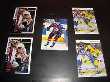 Peter Forsberg Colorado Avalanche Quantity 5 Card Hockey Card Lot Mint Condition