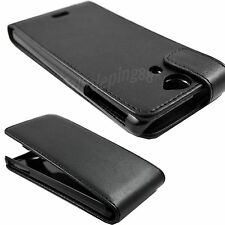 Premium Phone Shield Cover Black Leather Hard Case For Sony Xperia V LT25i
