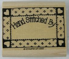 Hand Stitched By RUBBER STAMP Quilt Frame New Stampin Up 1993 1-7/8 x 1-1/4""