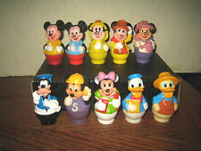 10 RARE HTF DISNEY'S MICKEY MINNIE MOUSE GOOFY DONALD COLLECTABLE FIGURE'S  LOT