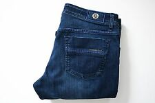 $1290 NEW STEFANO RICCI Blue with Contrast Piping Cotton Blend Jeans 34 US 50 EU
