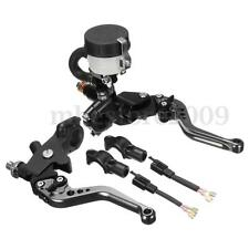 Universal 22mm Motorcycle Front Brake Clutch Master Cylinder Reservoir Levers