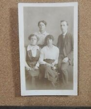 Sepia Family Group postcard Real photo unposted U.S.A Studios photo   xc1