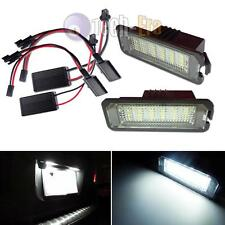 2x CAN-bus 18-SMD LED License Plate Lights For Volkswagen GTi Golf CC EOS Rabbit