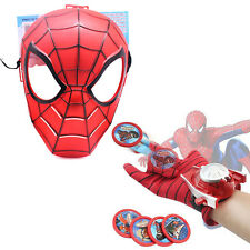 2Pcs Spider-Man Super Hero Launchers Gloves Mask Accessory Cosplay Party Kids
