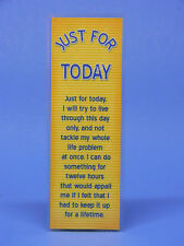 SOBRIETY BOOKMARK - JUST FOR TODAY - RECOVERY