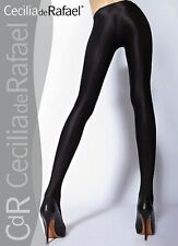 Cecilia de Rafael Uppsala Satin GLOSSY OPAQUE Pantyhose Tights XL Antracita gray