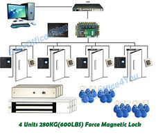 Full Fingerprint+RFID Access Control System kits for 4 doors with Control Board