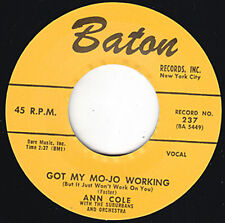 "ANN COLE Got My Mojo Working BATON Repro 7"" 1956 R&B Classic Orig. version HEAR"
