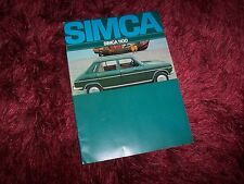 Catalogue / Brochure SIMCA 1100 1970 //