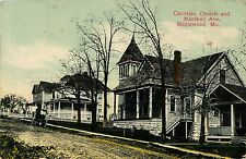 A View of the Christian Church & Marshall Avenue, Maplewood MO 1911