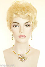Light Pale Blonde Blonde Short Wavy Curly Wigs