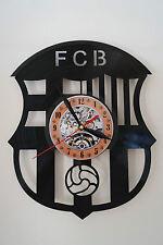 Barcelona FC design vinyl record wall clock bedroom home art playroom office sho