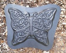 "Gostatue  large fancy butterfly stepping stone concrete plaster mold 17"" x 13"""