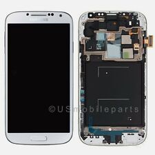 White Samsung Galaxy S4 i545 L720 R970 LCD Display Touch Screen Digitizer +Frame