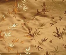 Silk BROCADE Fabric BRONZE BAMBOO -By The Yard-