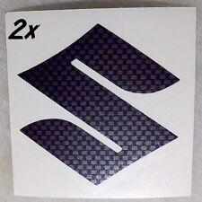 Suzuki S Logo Carbon Fiber decals sticker gsxr 85 rmz 450 600 750 1000 1100 gsxs