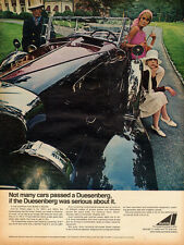 1960s vintage AD, AVCO LYCOMING Engines powered DUESENBERG Classic Car  081214