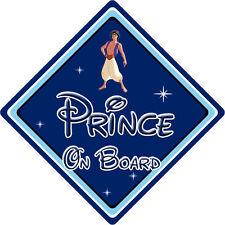 Disney prince à bord voiture signe-bébé à bord voiture signe – aladdin db
