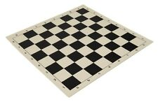 "20"" High Quality Vinyl Chess Board – Meets Tournament Standards - Black"