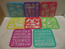 TUPPERWARE STENCIL ART SET OF 8 SHAPES LETTERS NUMBERS