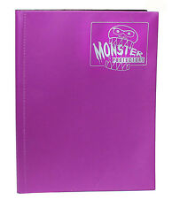 MATTE CORAL PURPLE Monster Binder Side-Loading 9-Pocket Card Album/Portfolio