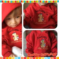 BABY 1ST BIRTHDAY HOODIE,OUTFIT,JUMPER YOUR NAME PERFECT PERSONALISED GIFT IDEA!