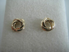 9ct yellow gold open knot stud earrings GREAT NEW ARRIVAL ON PROMOTION