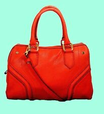 MILLY PAPAYA ZOEY Papaya Leather Satchel Shoulder Bag Msrp $435 *FREE SHIPPING*