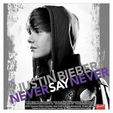 JUSTIN BIEBER never say never 2011 square VINYL STICKER official merchandise