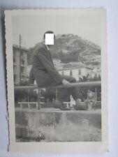 Vecchia fotografia Salerno Lungomare Colle Monte Bonadies Castello Arechi 1952