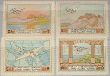 GREECE GRIECHENLAND 1926 300-03 C1-C4 Air Post Flying Boat Airplanes Planes MNH