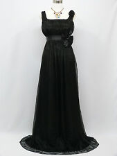 Cherlone Chiffon Black Ballgown Bridesmaid Wedding Formal Evening Dress 12-14