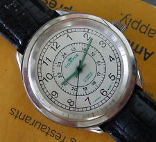 Limited Edition Men FORTIS Manual Wind Wrist Watch, 24-Hour Dial Military SWISS