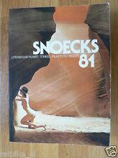 SNOEKS 81,ROMAN POLANSKI,JOHN HEDGECOE,PAUL DELVAUX,RAOUL SERVAIS,DE ANDREA,HANS