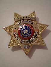 City of Bedford Police Officer State of Texas USA America Police Star Badge