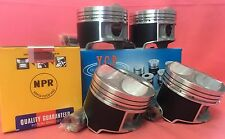 YCP B16 B18 81mm JDM High Compression Pistons + Rings Acura Honda Civic Type R