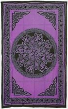"Celtic Knot Mandala Cotton Bedspread Tapestry Wall Hanging 72"" x 108""  6 Colors"