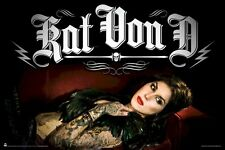Kat Von D Sueno poster!  24x36 inches!  SEXY!  Brand new- shipped rolled!