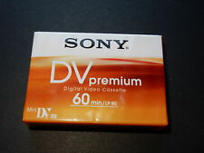 NEW 2 Sony Mini DV Tapes Premium 60min/LP-60 1 Hour tape SP60 camcorder DVM60PR4