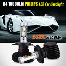 2x Philips LED Chips 180W 18000LM H4 9003 HB2 Headlight Kit H/L Beam Bulbs 6500K