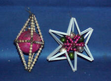 VINTAGE  MERCURY GLASS BEAD CHRISTMAS ORNAMENTS  LOT OF 2  MUST SEE