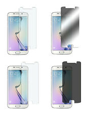 4 x Samsung Galaxy S6 Edge Klar + Matt + Spiegel + Privacy Displayschutz Folie
