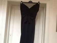 "GIRLS ON FILM:STUNNING BLACK BOW TRIMMED ""LBD"" COCKTAIL DRESS UK16 BNWT RRP £60"